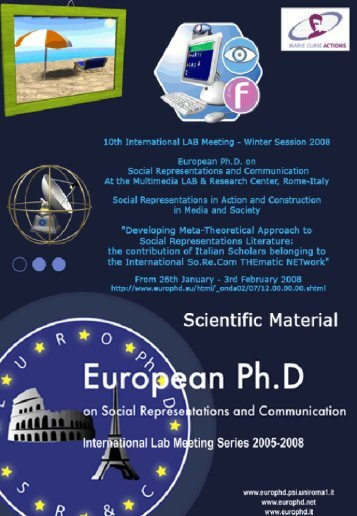 de Rosa, A.S. - European Doctorate on Social Representations and ...
