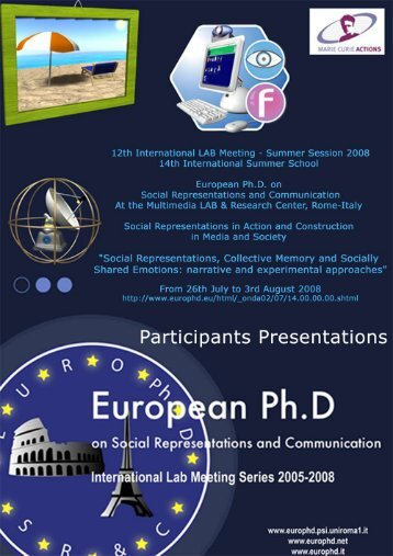 objectives - European Doctorate on Social Representations and ...