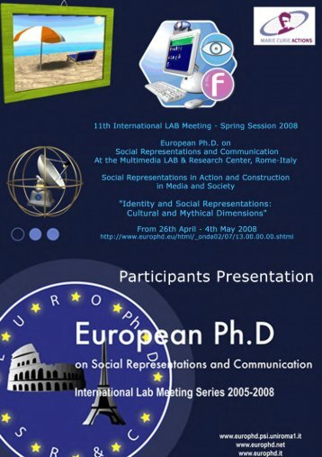 Social Representation in the language of economics - European ...