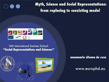 Myth, Science and Social Representations - European Doctorate on ...
