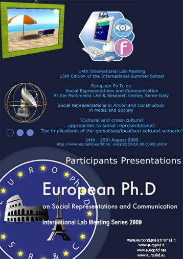Presentation_Ana Tepordei - European Doctorate on Social ...