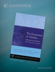 The formaTion of scholars: reThinking docToral educaTion for The ...