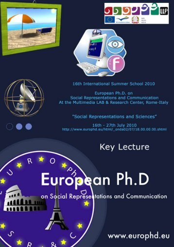 Social Representations and Applied Sciences - European Doctorate ...