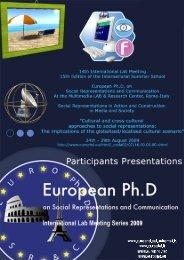 The Social Representation of Plastic Surgery - European Doctorate ...