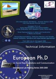 Plumpton, B. - European Doctorate on Social Representations and ...