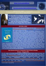 So.Re.Com.THE.NET.@-NEWS n°34 - European Doctorate on ...