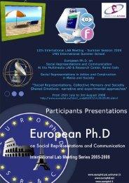 Constructing Islam - European Doctorate on Social Representations ...