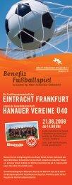 Fußballspiel Benefiz HanaUEr VErEinE Ü40 - Albert Schweitzer ...