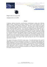 LLP-ERASMUS project abstracts - European Doctorate on Social ...