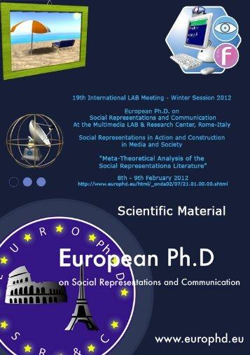 Rateau, P., Moliner, P., Guimelli, C., Abric, J.C. - European Doctorate ...