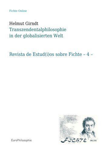 Transzendentalphilosophie in der globalisierten Welt Revista de ...