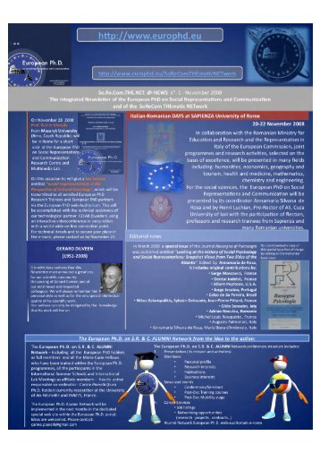 So.Re.Com.THE.NET.@-NEWS n°1 - European Doctorate on Social ...