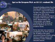 Jesuino Homage - European Doctorate on Social Representations ...