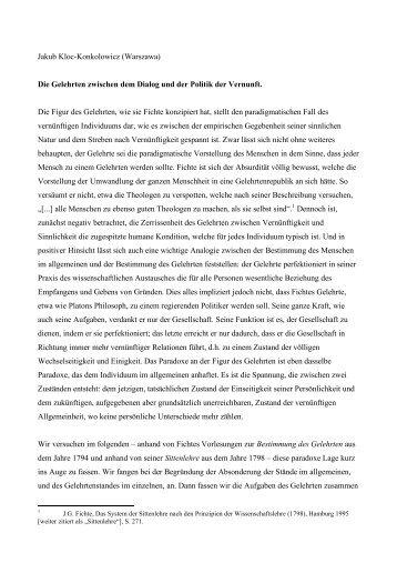 Jakub Kloc-Konkolowicz (Warszawa) Die Gelehrten zwischen dem ...