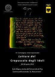 Letture del Crepuscolo degli Idoli - Bienvenue sur Europhilosophie!