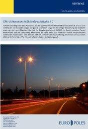 Referenz GFK-Lichtmasten Linz - Europoles