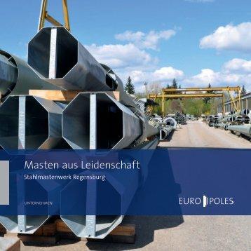 Broschüre Stahlmastenwerk Regensburg - Europoles
