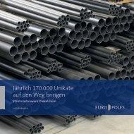 Broschüre Stahlmastenwerk Dinkelsbühl - Europoles