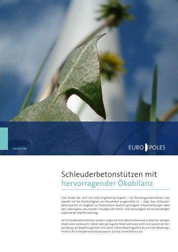 Schleuderbetonstützen mit hervorragender ökobilanz - Europoles