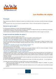 5c) les feuilles de styles - Europschool