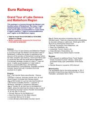 Grand Tour of Lake Geneva and Matterhorn Region - Euro Railways