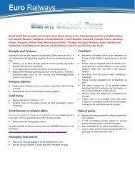 Eurail Selectpass - Euro Railways