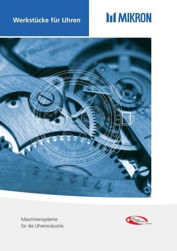 Werkstücke für Uhren