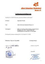 Leistungsvereinbarung - Albert Schweitzer Kinderdorf Hessen ev