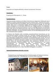 Kooperation der Integrationsbetriebe im deutsch-tschechischen ...