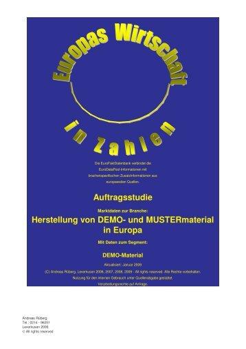 Auftragsstudie Herstellung von DEMO- und ... - Euroreports.eu