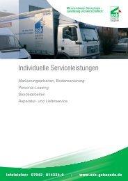Individuelle Serviceleistungen Reparatur - ASK Industrie Service