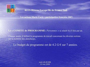 Participation française 2007 - Eurosfaire