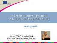 Research Infrastructures - Eurosfaire