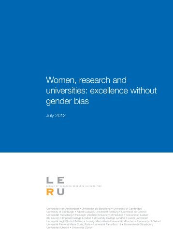 Women, research and universities - Universitat de Barcelona