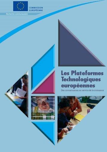 Les plates-formes technologiques européennes - Europa