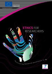 Ethics for Researchers - European Commission - Europa