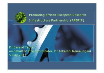 Promoting African-European Research Infrastructure ... - Eurosfaire