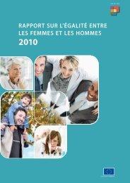 Rapport sur l'égalité entre les femmes et les hommes - European ...