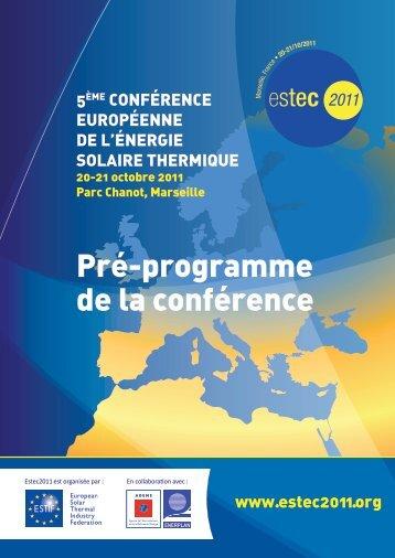 Pré-programme de la conférence - Eurosfaire