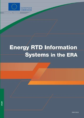 Energy RTD Information Systems in the ERA - European ...