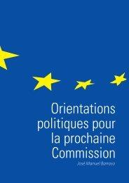 Orientations politiques pour la prochaine Commission - European ...