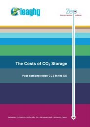 The Costs of CO2 Storage - SiteChar