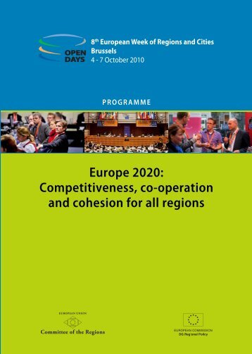 OPEN DAYS 2010 Final Programme - European Commission - Europa