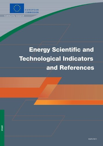 Energy Scientific and Technological Indicators and References
