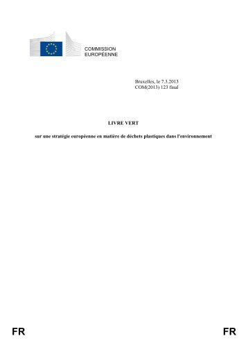 Livre Vert - European Commission - Europa