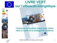 Livre vert sur l'efficacité énergétique - Comment ... - Eurosfaire