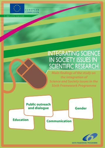 Integrating Science in Society issues in scientific research - Main