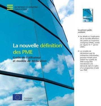 La nouvelle définition des PMEs - Euresearch