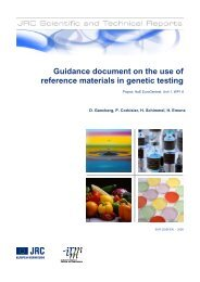 Guidance document on the use of reference ... - IRMM - Europa