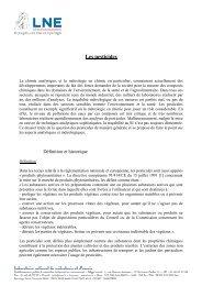 Les pesticides - Métrologie française
